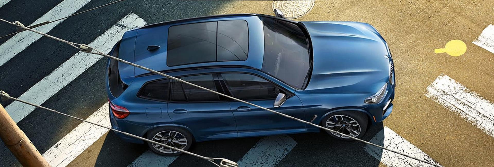 Aerial view of the 2021 BMW X3