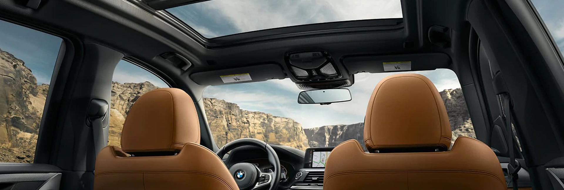 Full interior view of the 2021 BMW X3