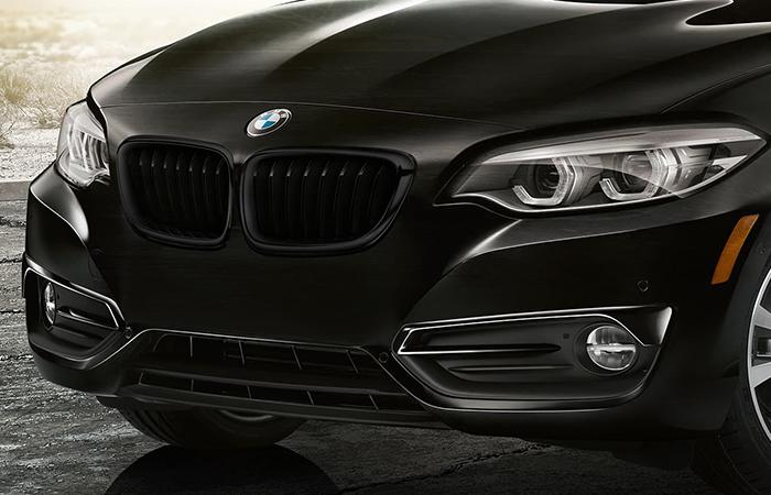 Front close up view of the 2021 BMW 2 Series