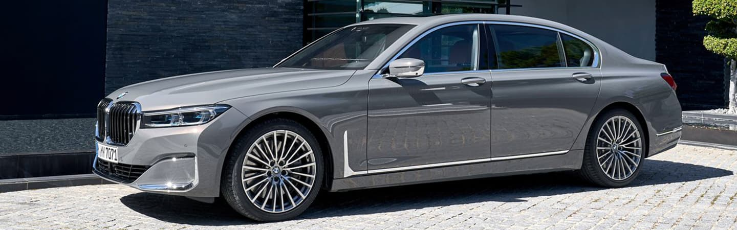 Gray 2020 BMW 7 Series Exterior - Parked next to a building