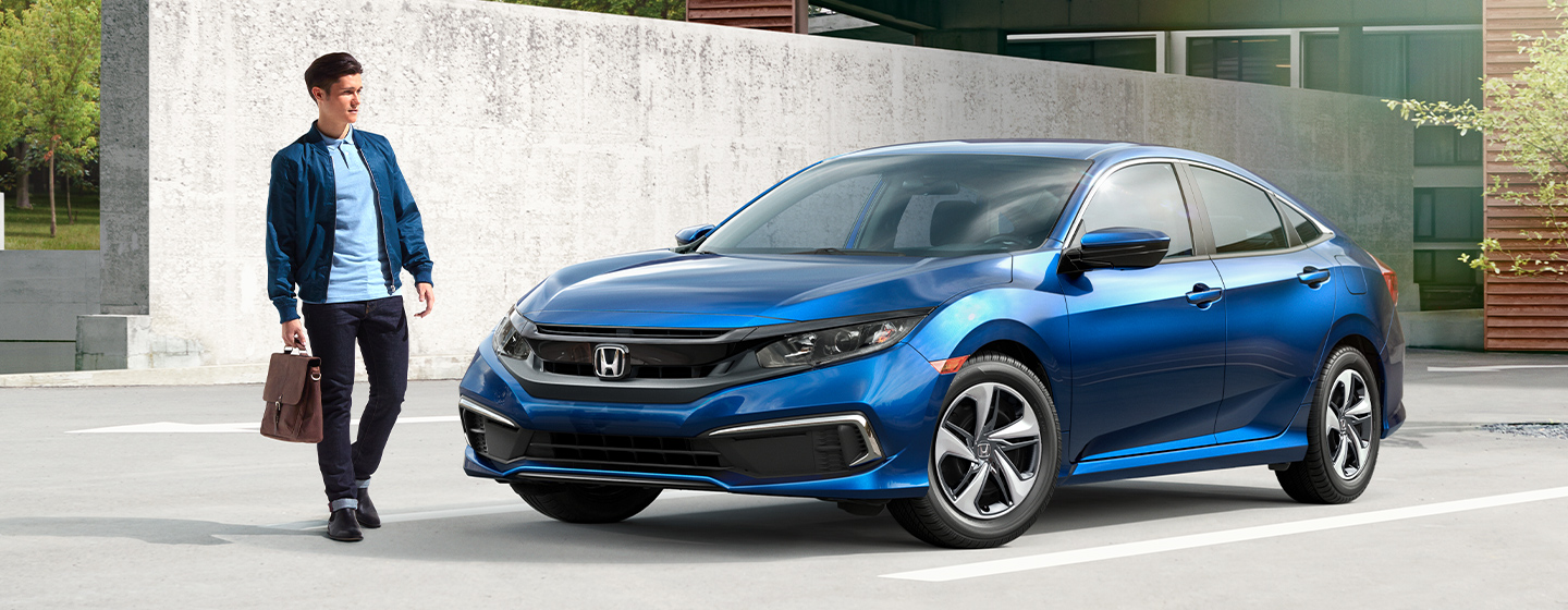 Honda Civic front with guy