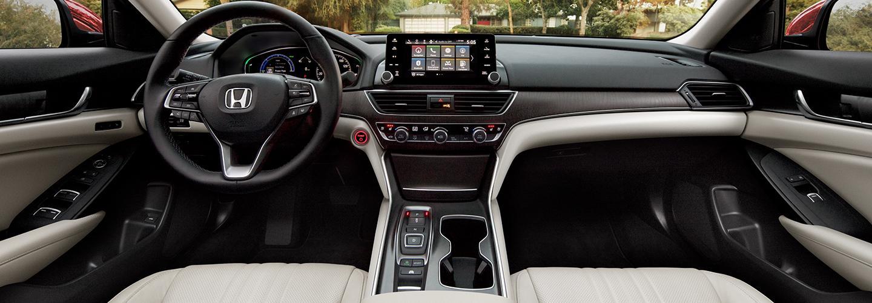 Full interior view of the 2021 Honda Accord