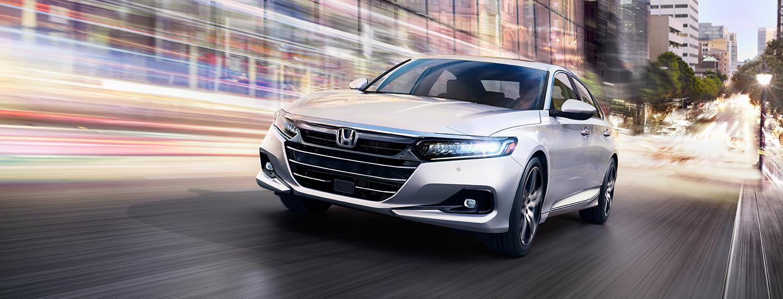 White 2021 Honda Accord in motion