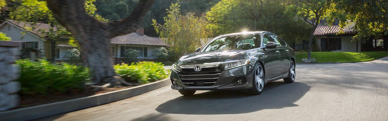 Gray 2021 Honda Accord in motion
