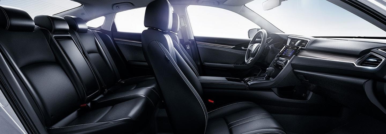 Full interior view of the 2021 Honda Civic
