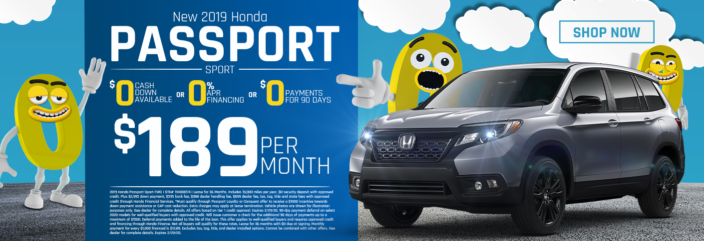 Honda Passport Triple Zero Offer