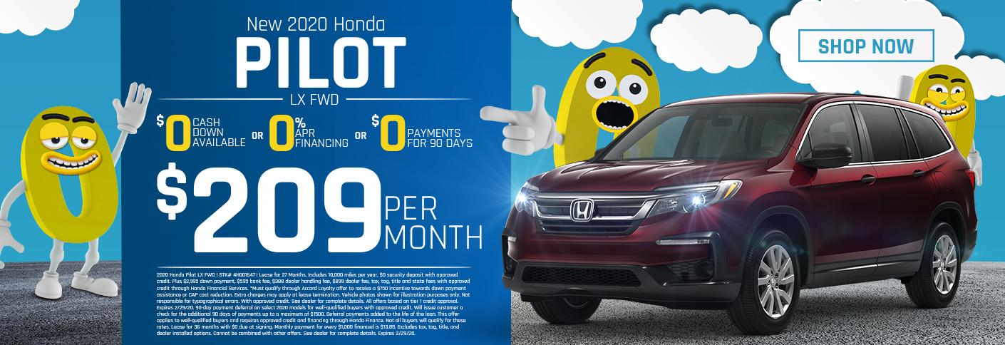 Honda Pilot Triple Zero Offer