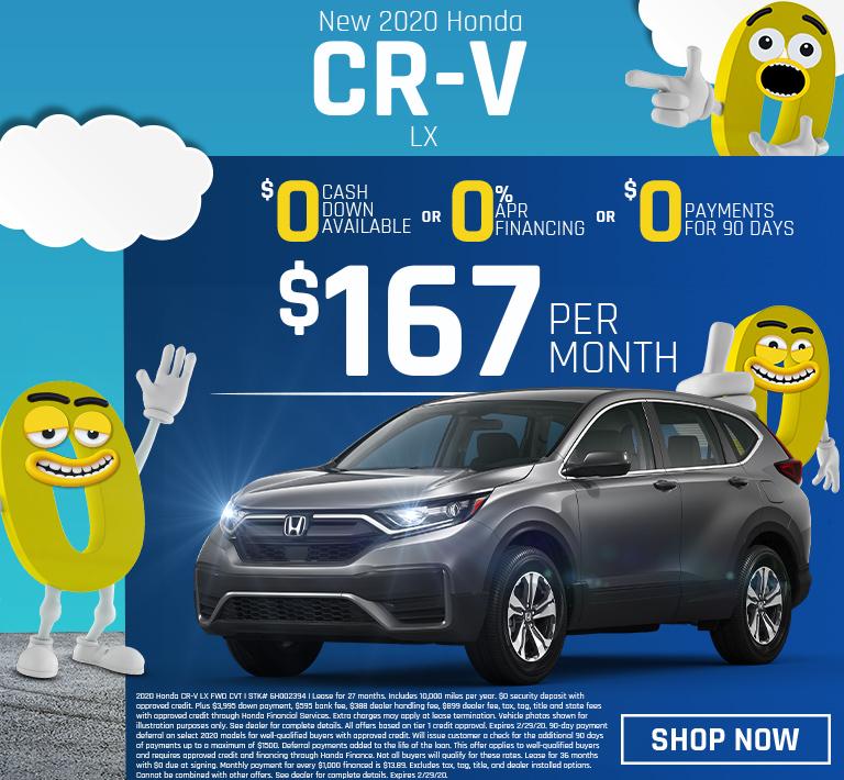 Honda CR-V Triple Zero Offer