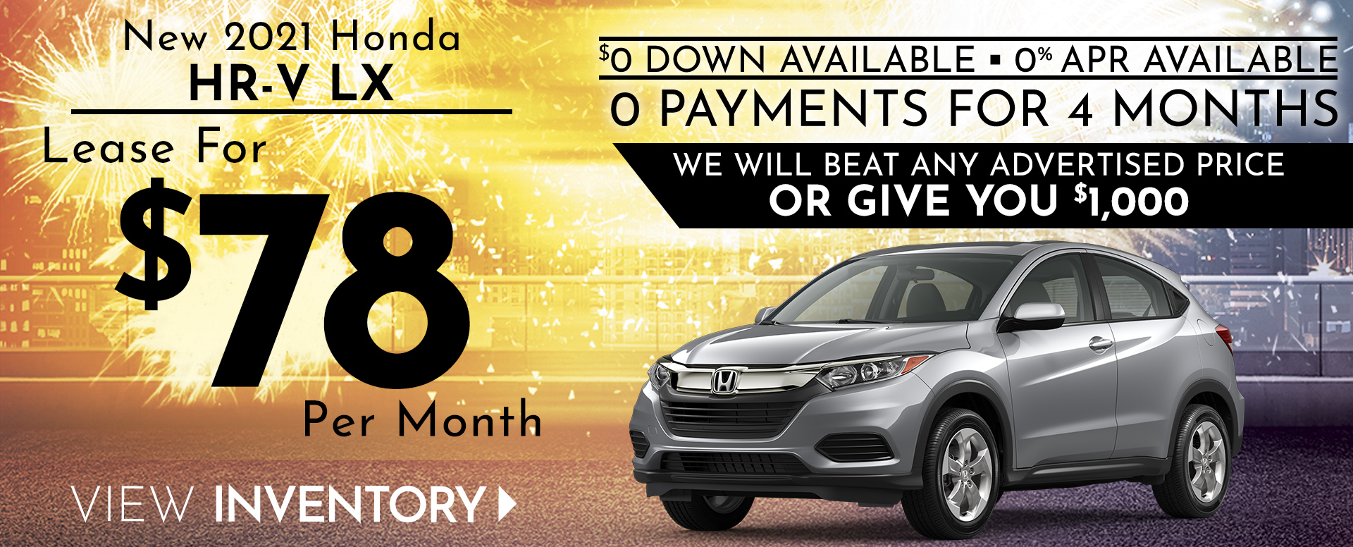 Honda HRV Offer