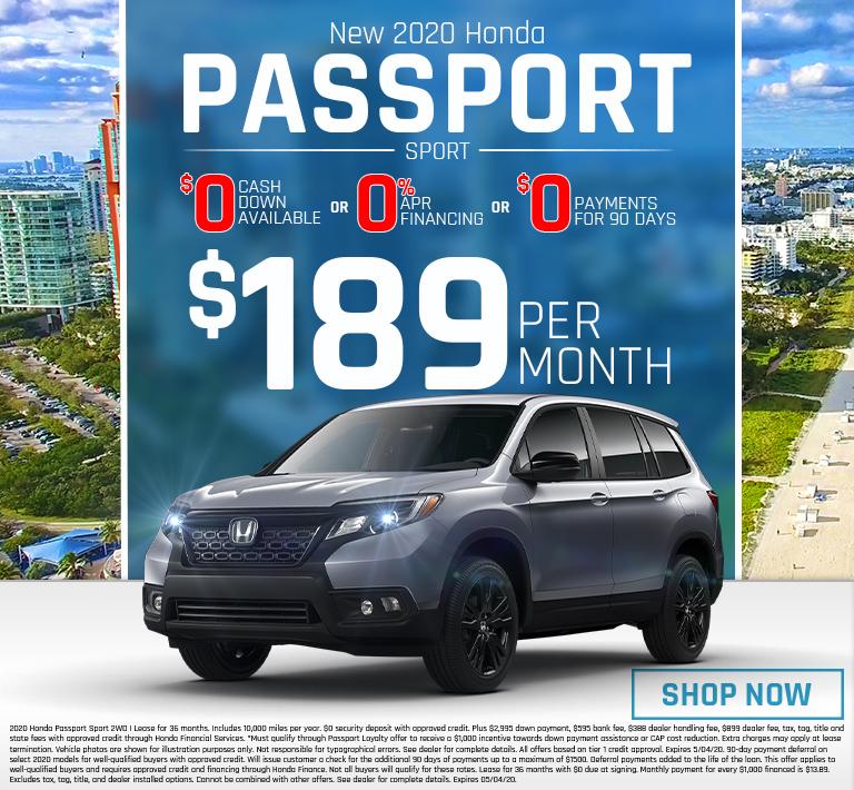 Honda Passport Offer