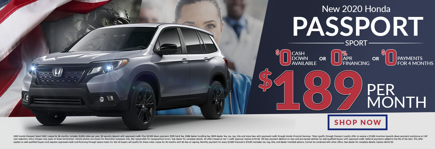 Honda Passport Offer