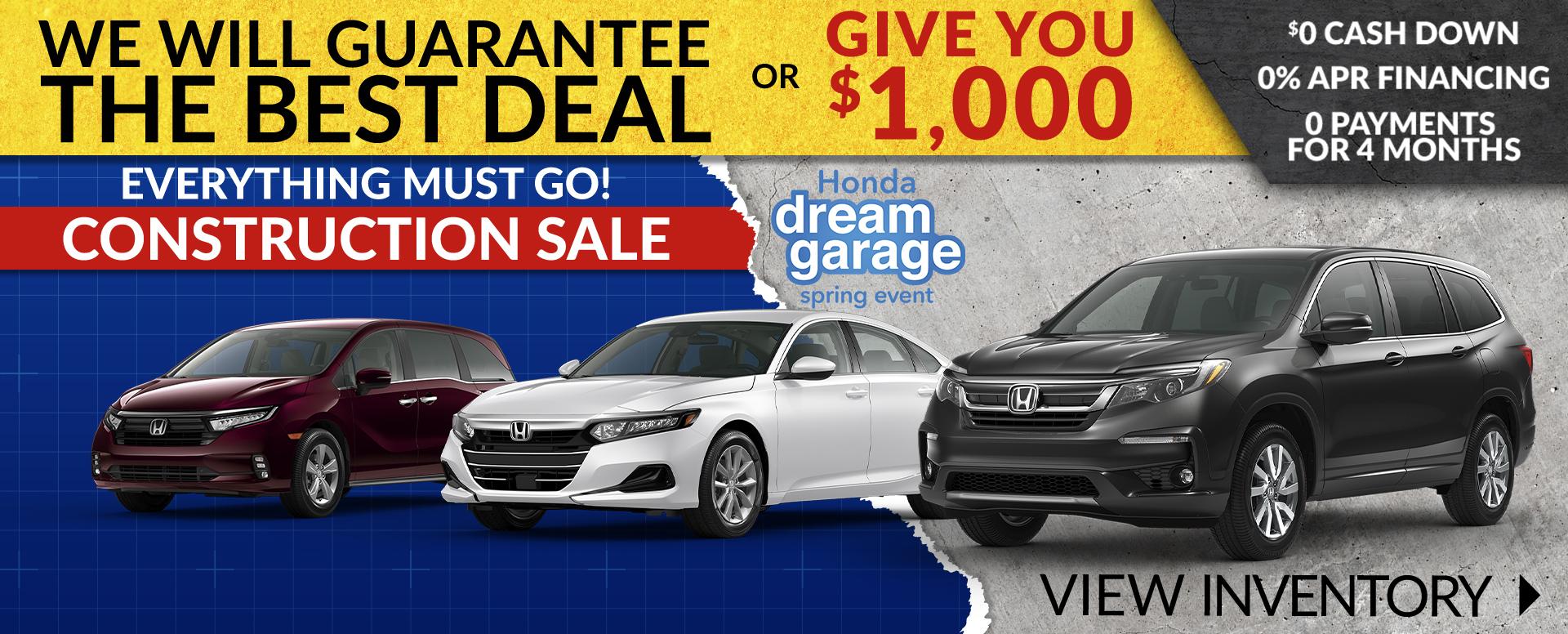 Honda triple zero Offer
