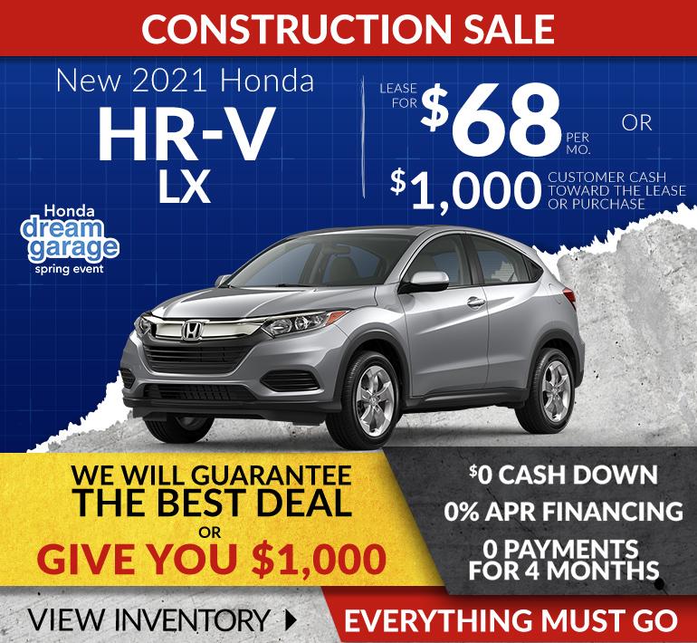 Honda HRV Offer