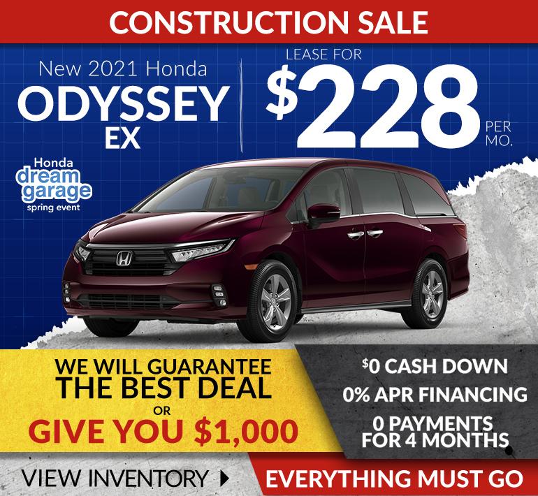 Honda Odyssey Offer