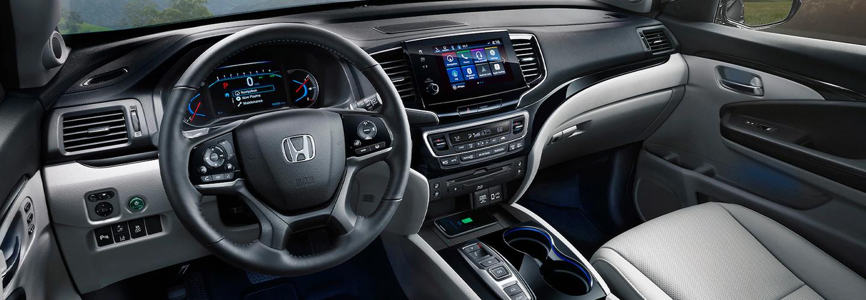 Interior view of the 2021 Honda Pilot