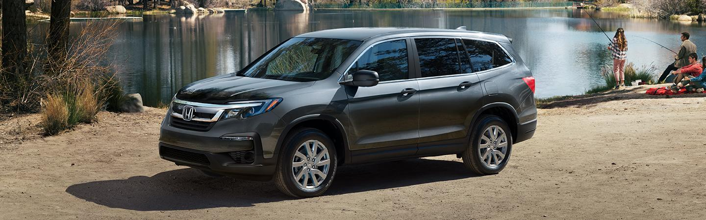 2021 Honda Pilot parked by the lake
