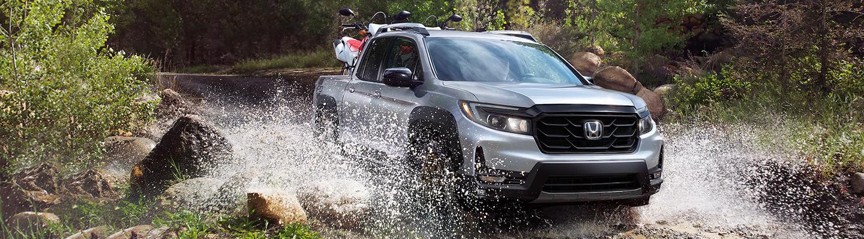 Driving honda ridgeline in water