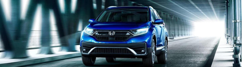 Driving a 2021 Honda CR-V Hybrid in subway