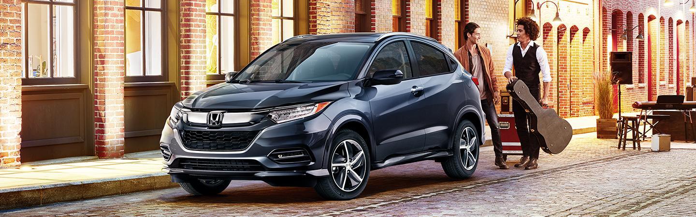 Navy 2020 Honda HR-V parked in city