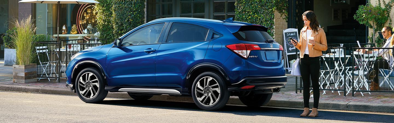 Blue 2020 Honda HR-V parked in city