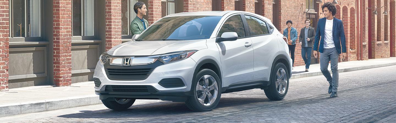 Gray 2020 Honda HR-V parked in city