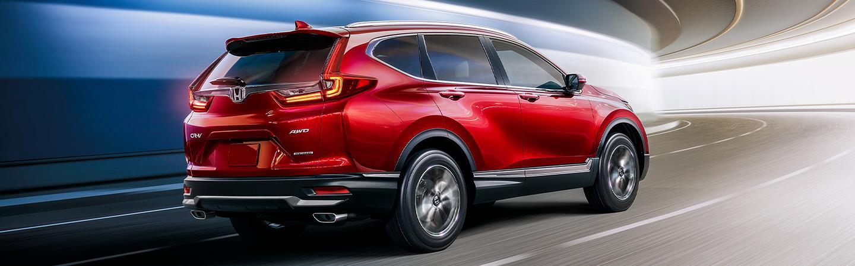 Red 2021 CR-V in motion