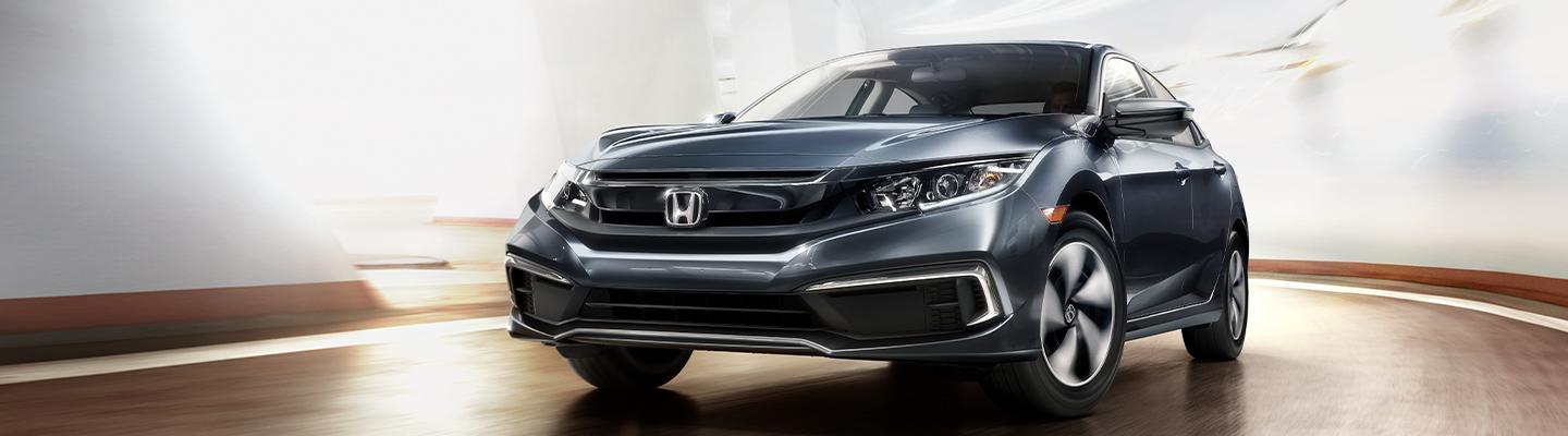 Front view of a 2021 Honda parked