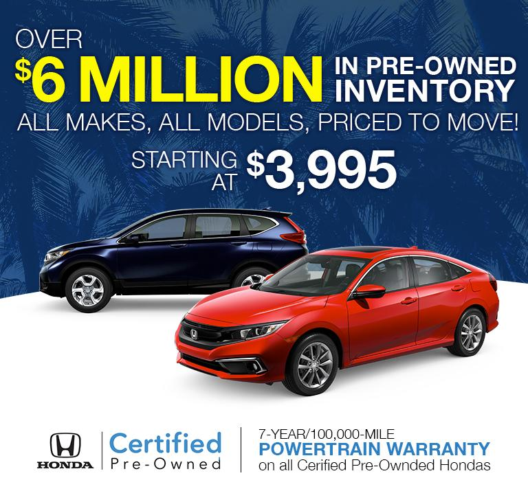 Over 6 Million Pre-Owned Inventory | All Makes, All Models, Priced To Move!
