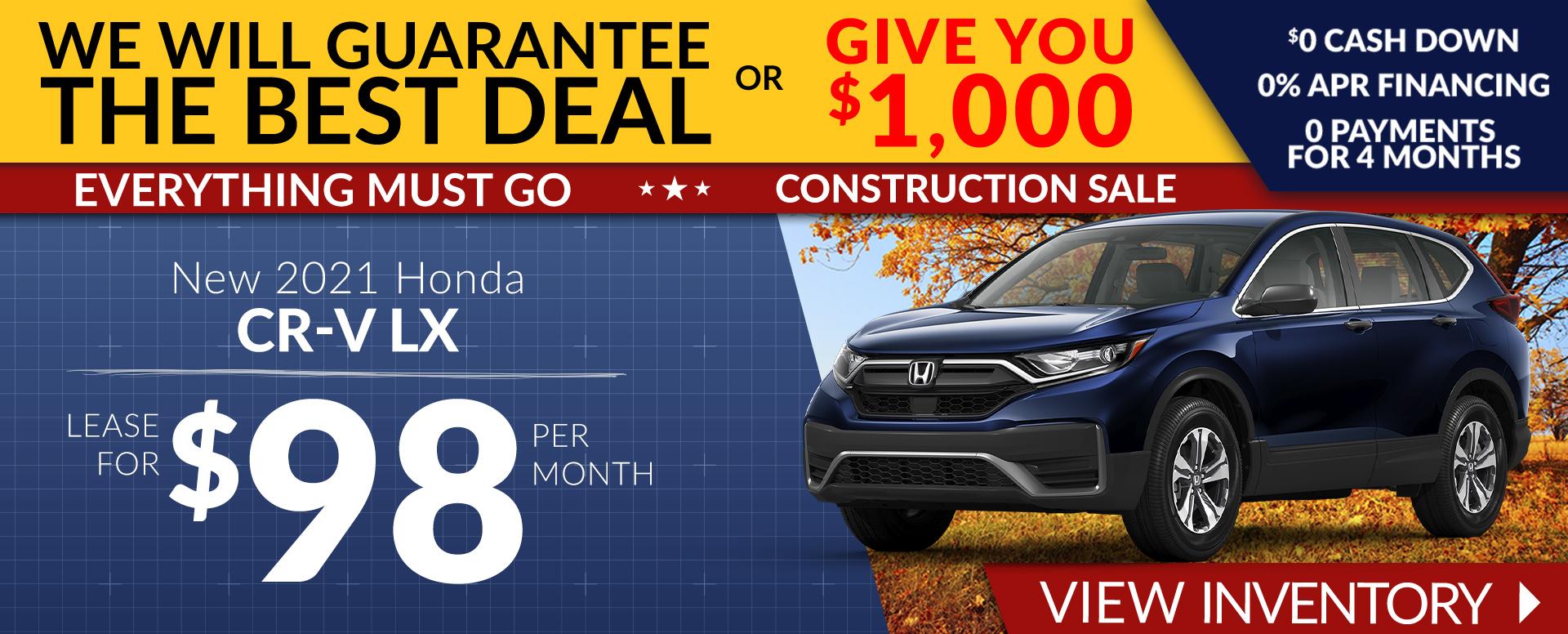 Honda CR-V Offer