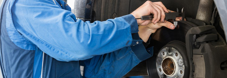 Brake engine service on an INFINITI