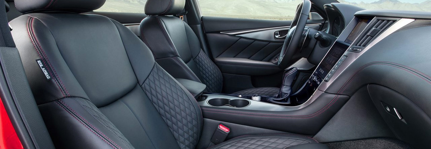 2019 INFINITI Q50 Interior Side View of the front row