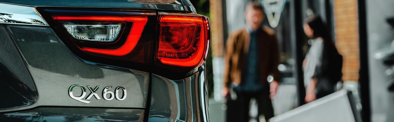 Rear headlight view of the INFINITI QX60