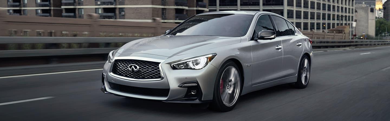 Silver 2020 INFINITI Q50 Driving