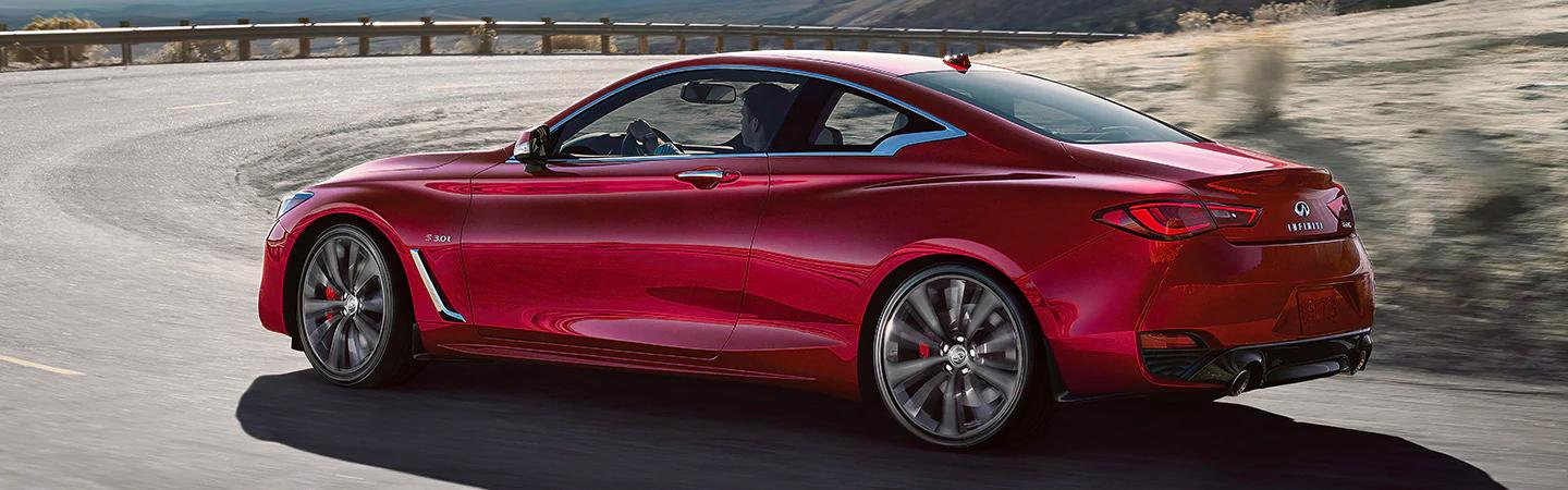 Red 2020 INFINITI Q60 - Wheels and Side Profile