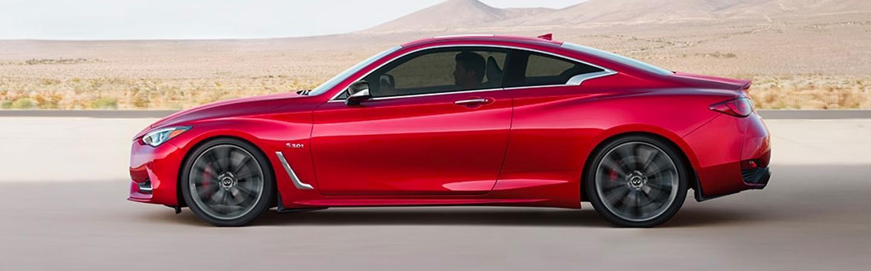 Red 2020 INFINITI Q60 - Side Profile