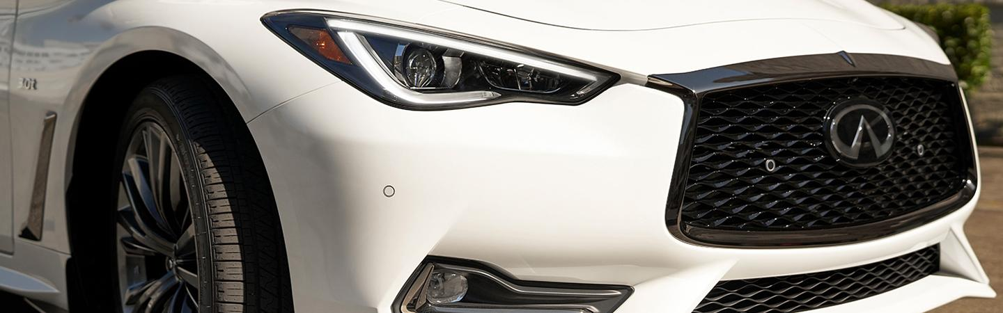 White 2020 INFINITI Q60 - Headlight and Front Grille