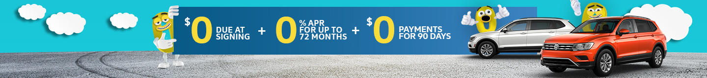 $0 due at signing | 0% APR | $0 payments for 90 days