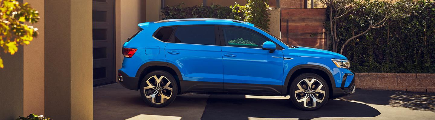 Side profile view of the 2021 Volkswagen Taos