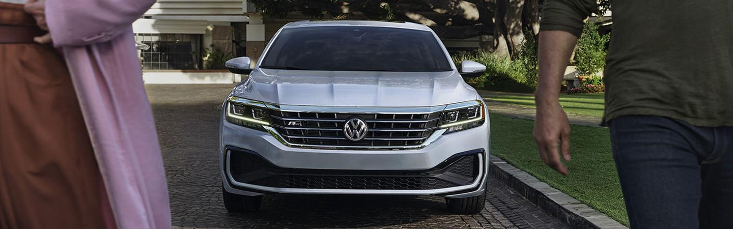 Full front view of the 2021 Passat