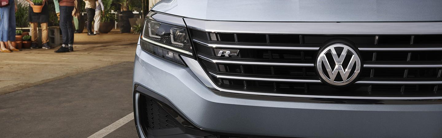 Detailed view of the 2021 Passat