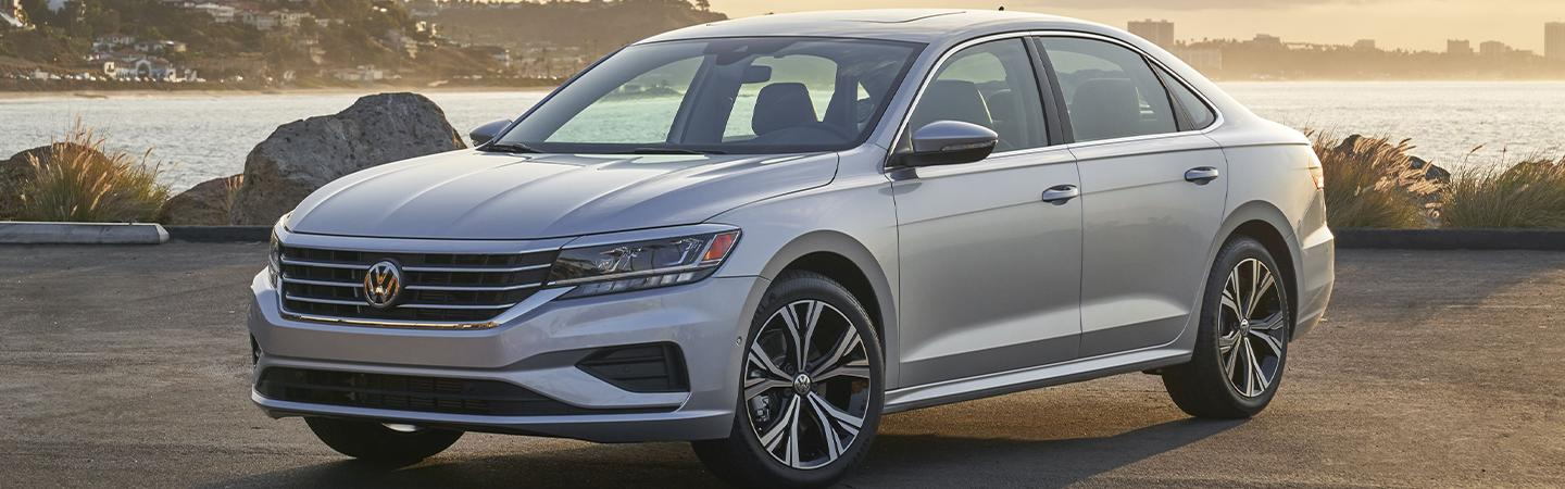 Driver side view of the 2021 Passat