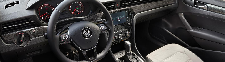 Full interior view of the 2021 VW Passat
