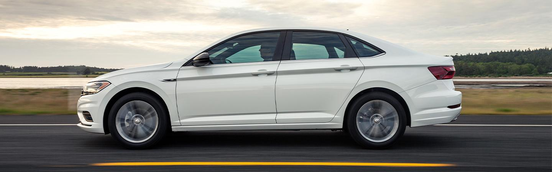 Driver-side profile of the 2020 Jetta
