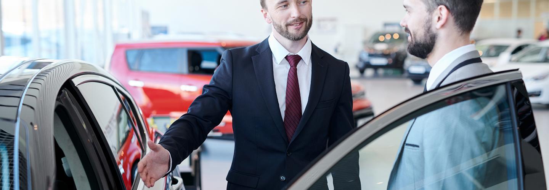 Service tech providing information to a customer