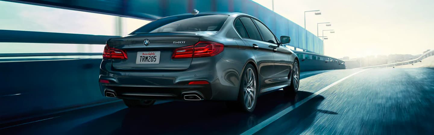 2020 BMW 540i Rear View - Trunk, Tail Lights, and Exhaust