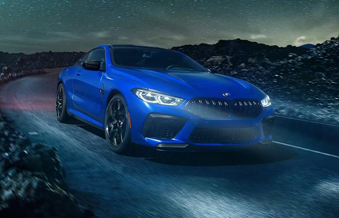 Exterior of the 2020 BMW M8