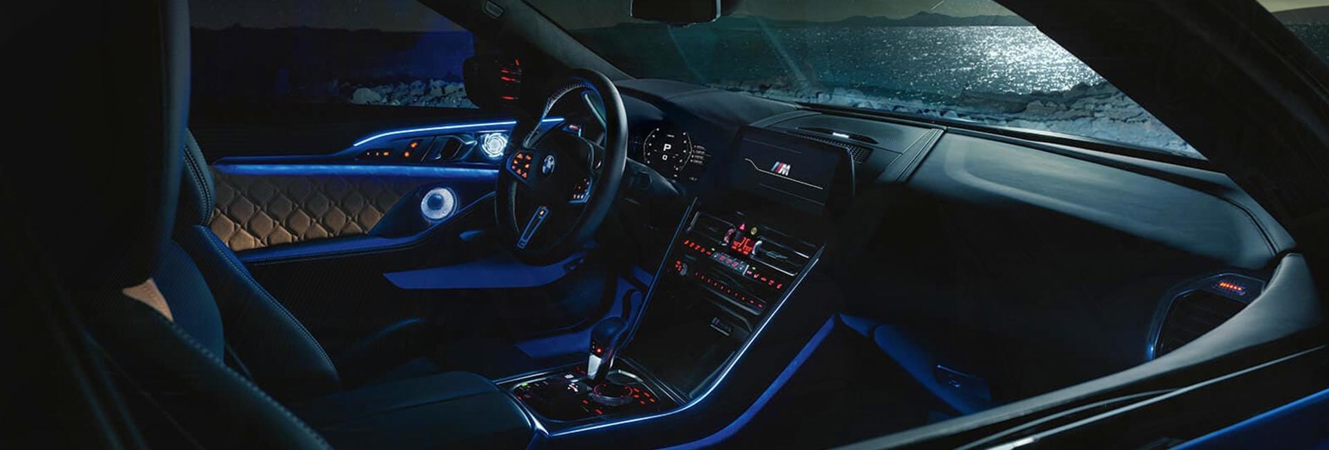 Interior image of the 2020 BMW M8