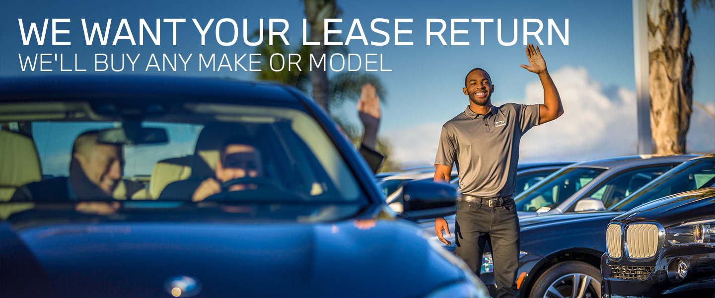 We want your lease return   move up to a new BMW today