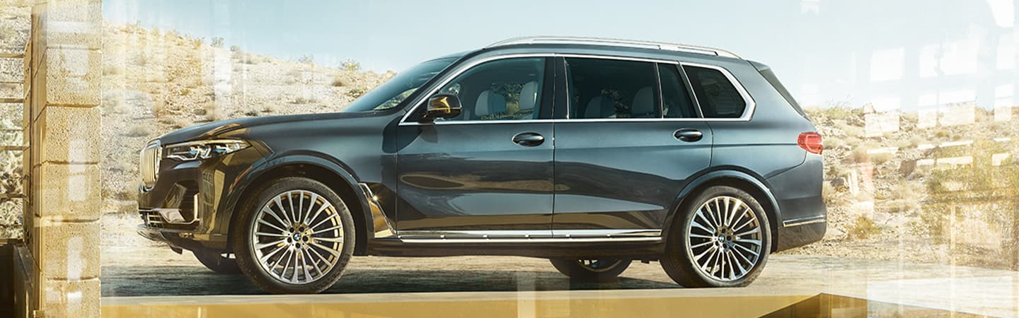 Blue Gray 2020 BMW X7 Exterior - Parked - Side View