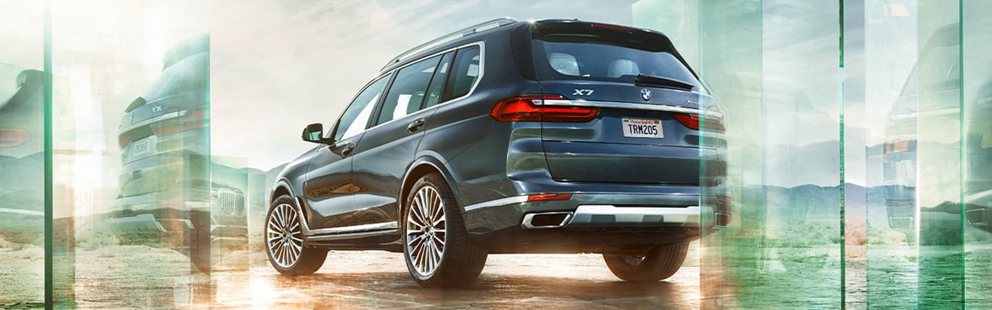 Blue Gray 2020 BMW X7 Exterior - Parked - Rear View